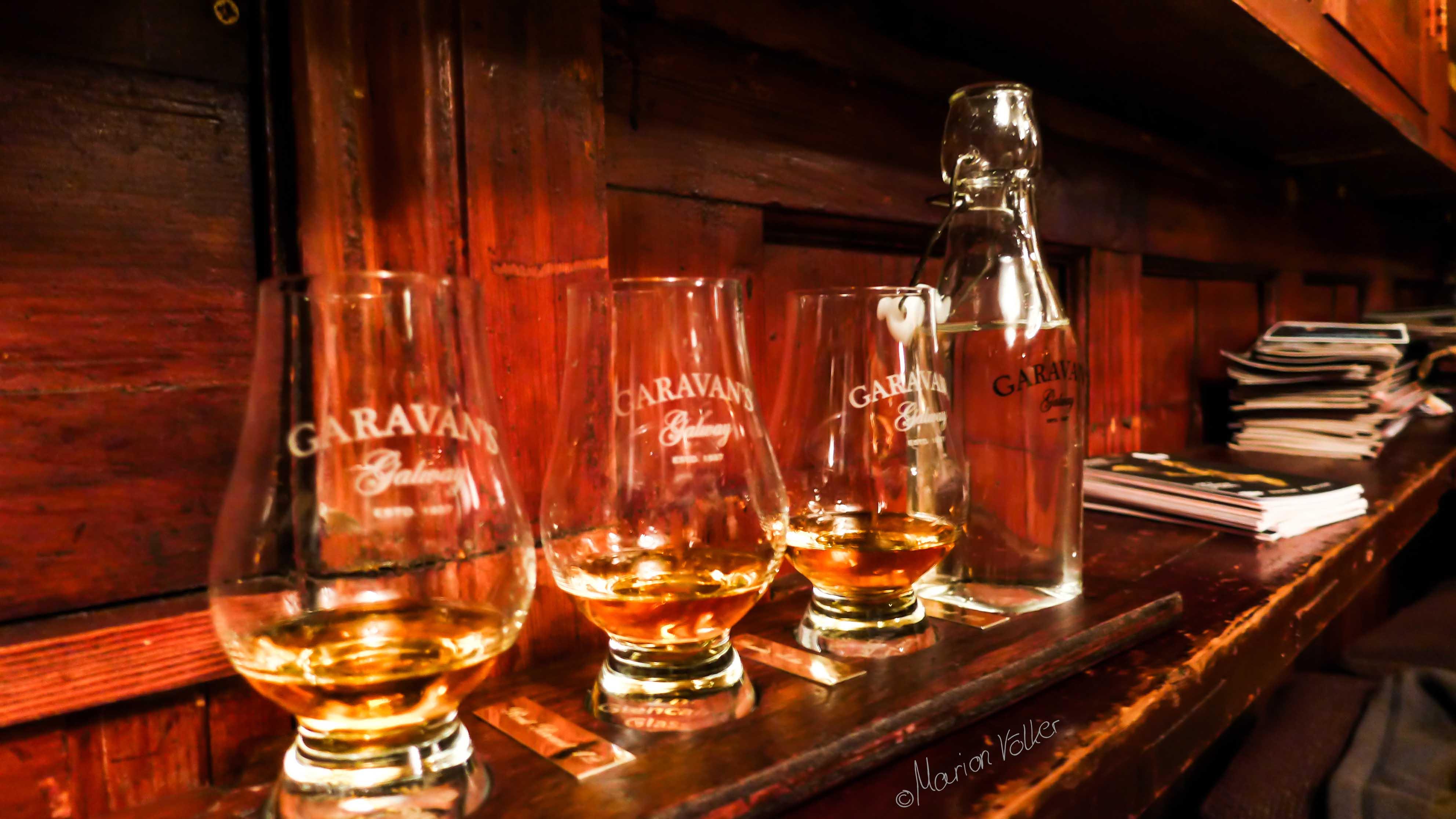 Whiskeyversokstung im Garavan's Pub in Galway