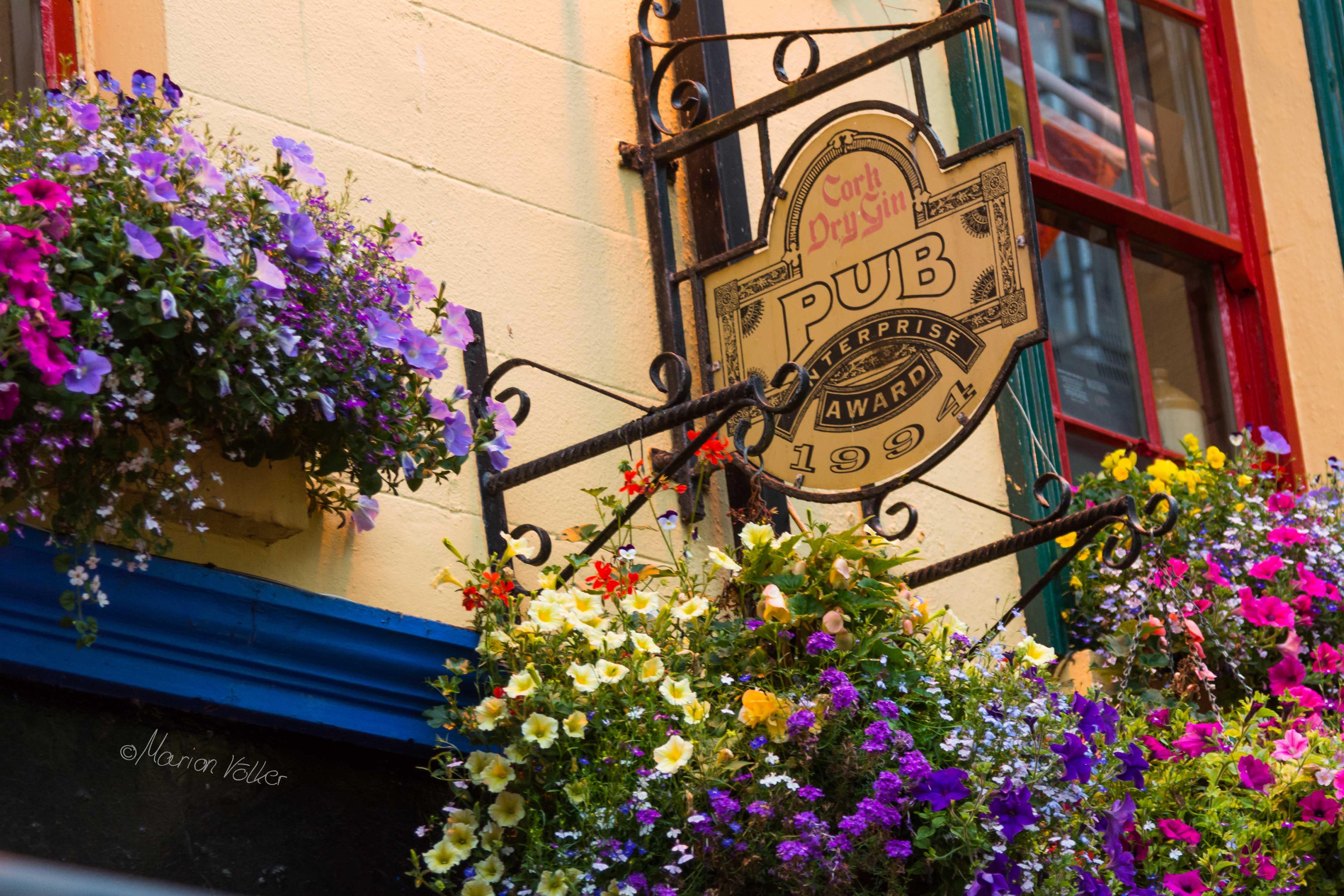 Schild an einem Pub in Galway