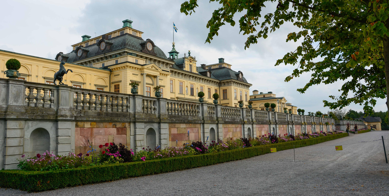 Schloss Drottningholm, der Wohnsitz der schwedischen Königsfamilie