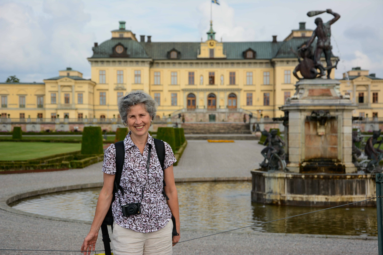Der Schlossgartenn von Drottningholm in Stockholm