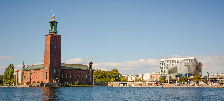 Das Stadshuset, das Rathaus von Stockholm