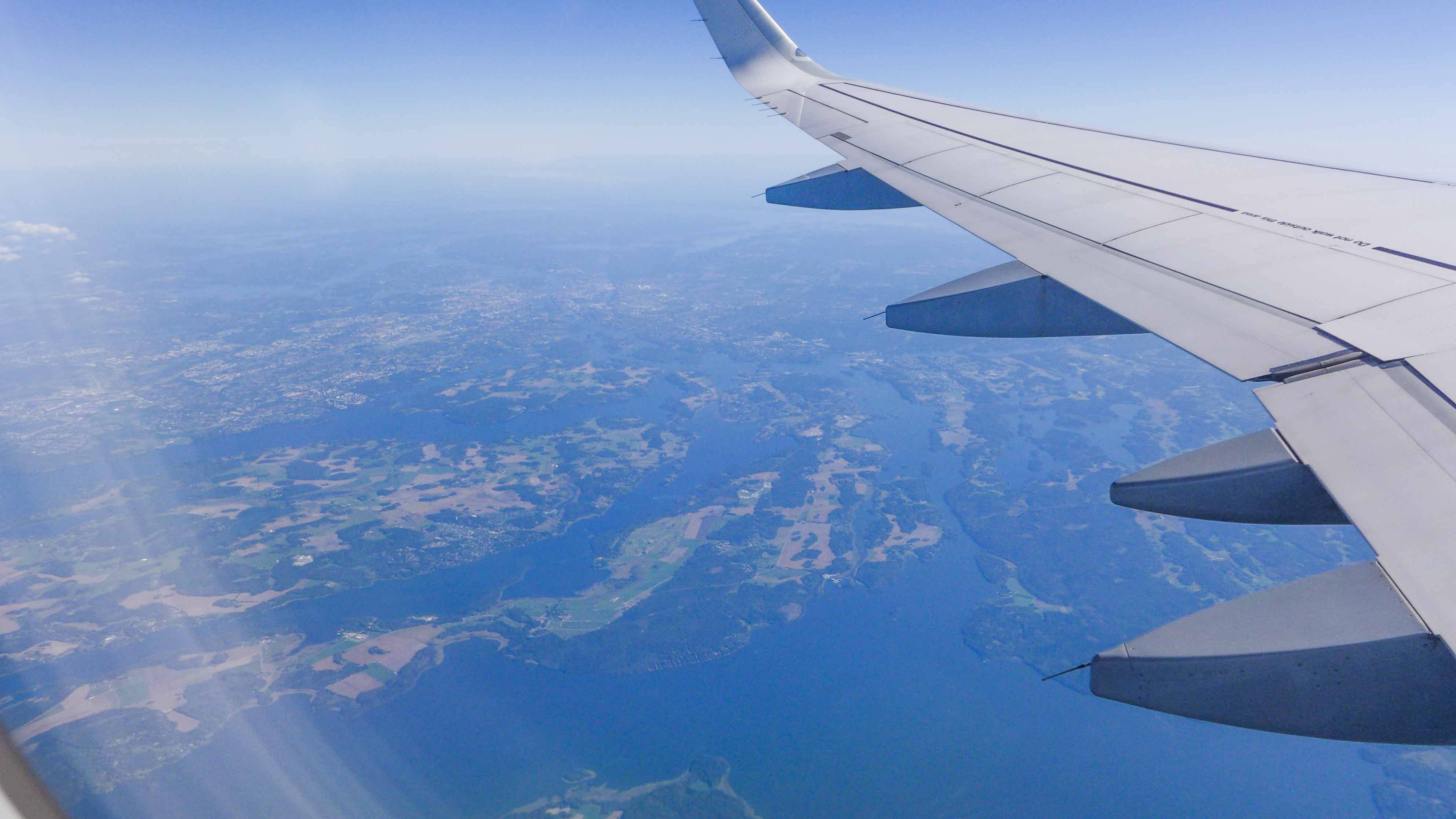 Letzter Blick auf Stockholm, die schwimmende Stadt auf den vielen Inseln
