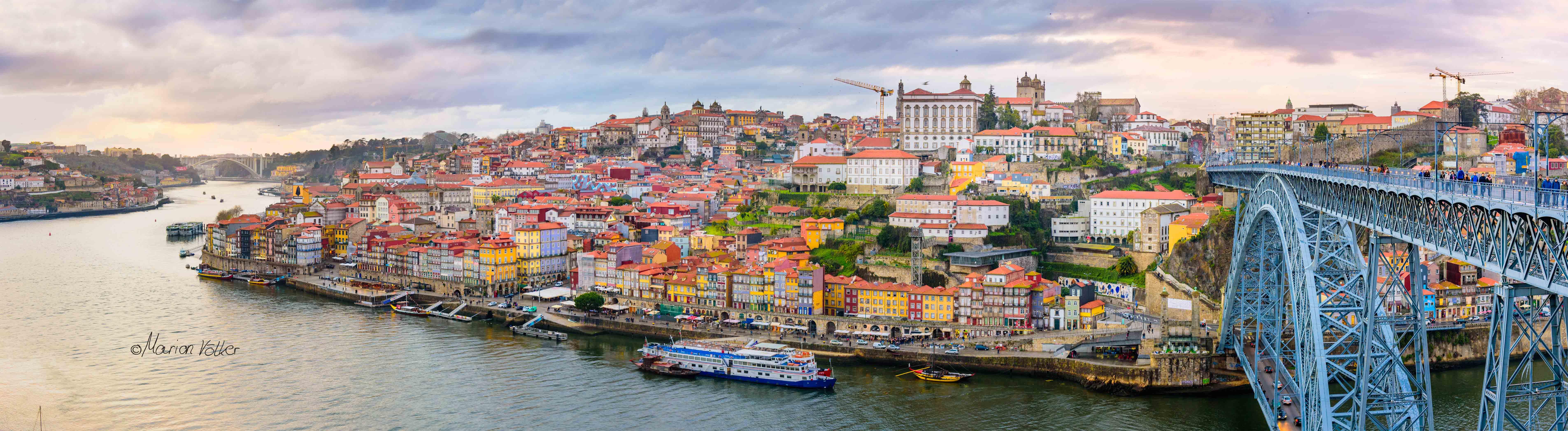 Der Sonnenuntergang in Porto war jeden Tag ein sehenswerter Anblick